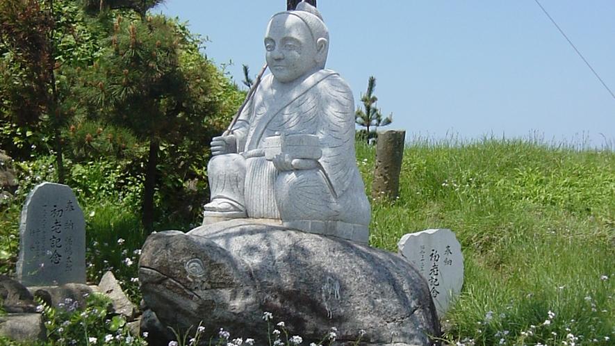 *浦島太朗の銅像(島児神社)