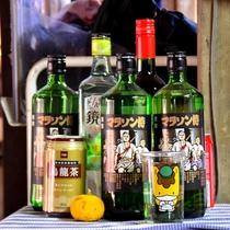 *あまり見ない珍しいお酒もご用意。フロントで販売しております。