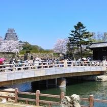 【姫路城】姫路城と桜門橋