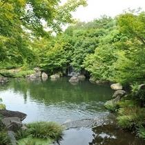 【好古園】池の情景(潮音斎前)
