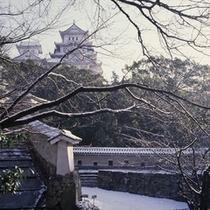 【姫路城】冬=はの門から天守