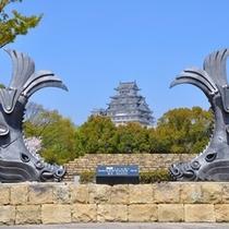 【姫路城】城見台公園の鯱と姫路城