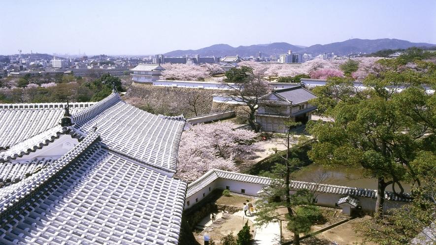 【姫路城】菱の門付近眺望