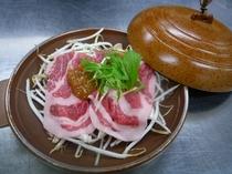 夕食の一品『飛騨豚味噌焼き』