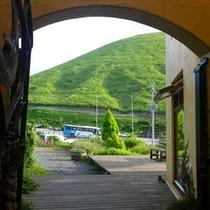 *【大室山】当館入り口から見た大室山!本当に目の前なんです。