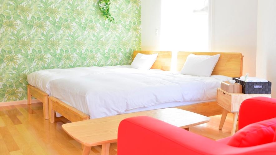 *【ツインルーム(バストイレ付)一例】2019/10/7新設の洋室。※客室によりイメージが異なります