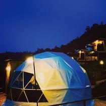 【2019年12月オープン予定】ドーム型テントでグランピング/客室は和室・洋室・和洋室の3タイプです