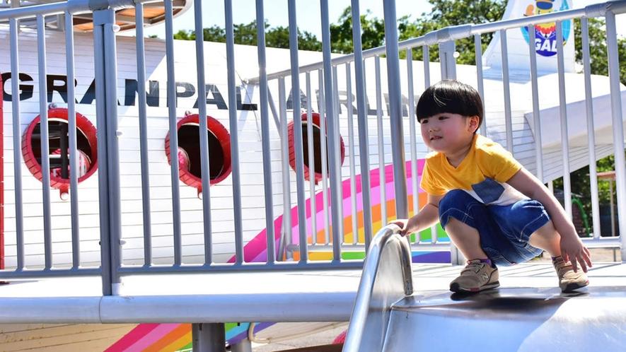 *【ぐらんぱる公園】ぐらんぱるエアライン:パイロットの衣装を着て記念写真★