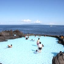 【伊豆海洋公園の磯プール】日本一海に近いプールです!