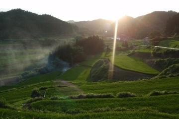 田園の夕暮れ