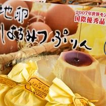 *【お土産一例】久住山麓で育てられた赤鶏の新鮮卵を使用したはちみつプリン!