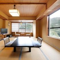 【A】千代田館標準和室または和洋室(バス・トイレ付)一例