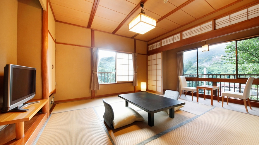 【B】源泉檜風呂・トイレ付標準和室(8畳タイプ) 客室一例