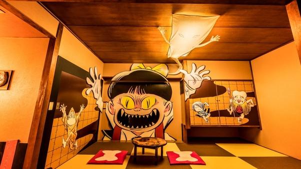 〔ゲゲゲの鬼太郎ルーム〕ねこ娘部屋でわいわいお泊り編【禁煙】