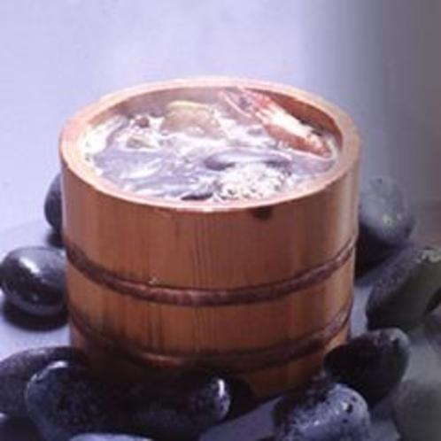 名物「石焼き樽」