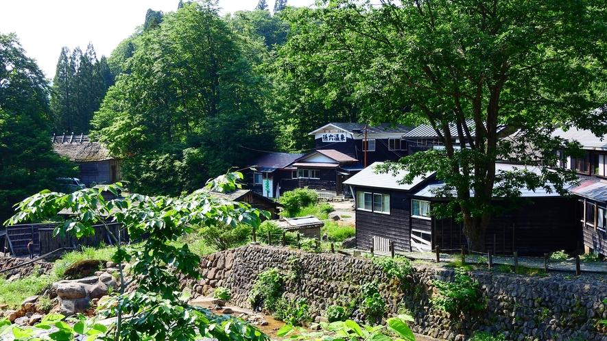 *【外観】緑に囲まれた、昔ながらの湯治場の雰囲気を残す宿。