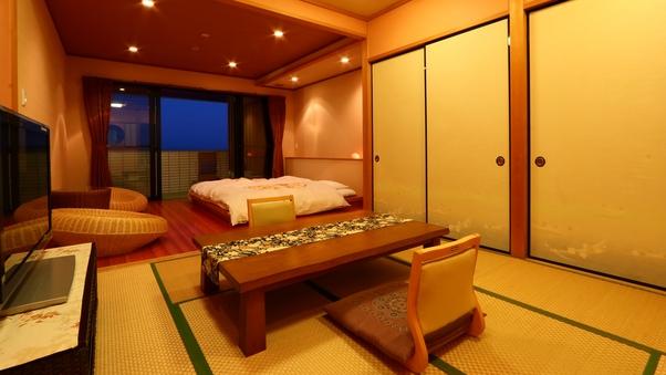 『白砂』海一望の露天風呂&ベッド和洋室18畳