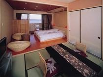 海一望の露天風呂付き和洋室18畳「白砂」