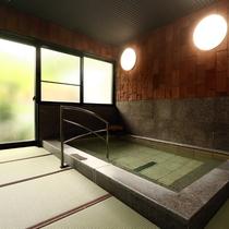 お風呂◆畳敷きが心地良いうぐいすの湯