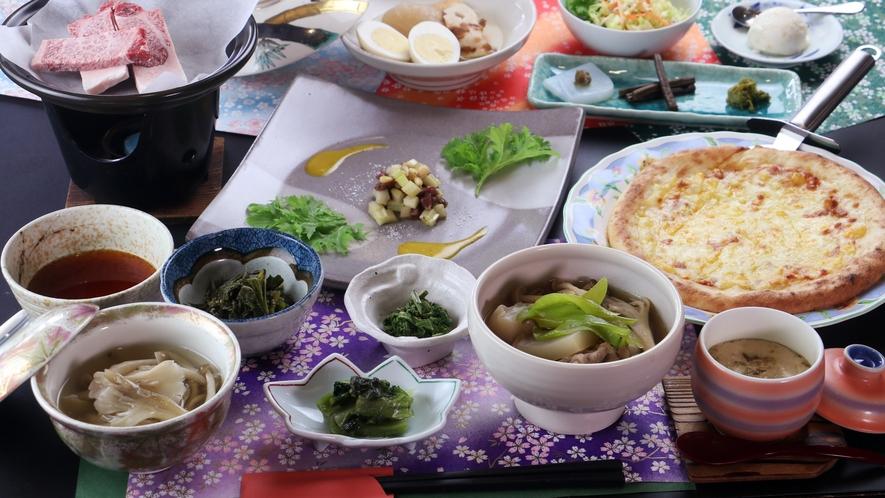 【夕食】ボリューム満点のお夕食
