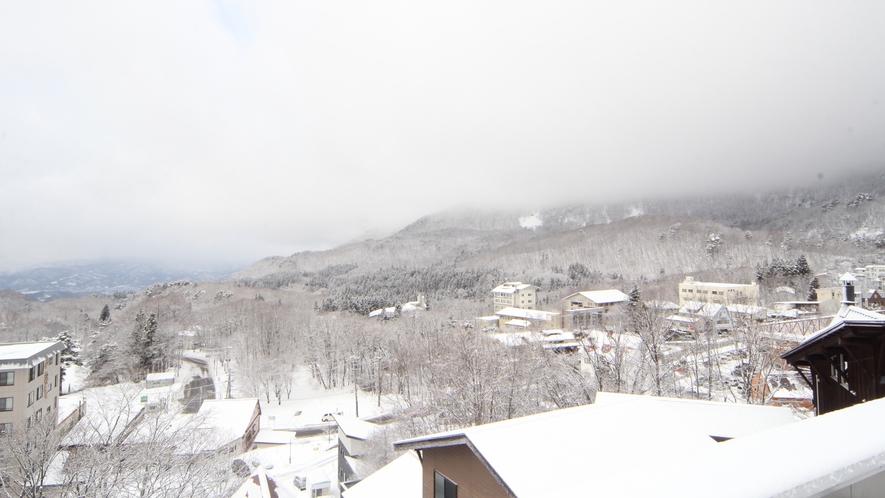 冬はあたり一面雪に染まります