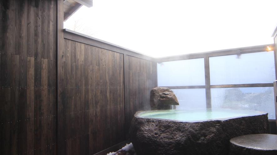 【貸切露天風呂】冬は雪見が楽しめます