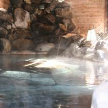 朝日の露天風呂