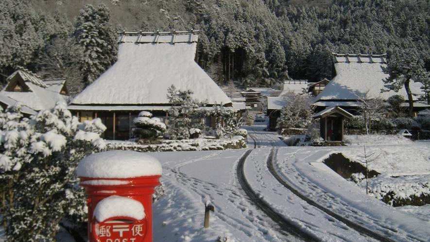 *かやぶきの里(冬)