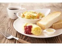【朝食】ビタミンサラダ&チーズオムレツプレート