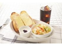 朝食メニュー②ハムチーズトーストセット