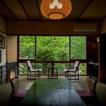 昔懐かしい・・・銘木造りの客室。。。趣向を凝らし銘木を設えた落ち着いた造り。。。【別館客室一例】