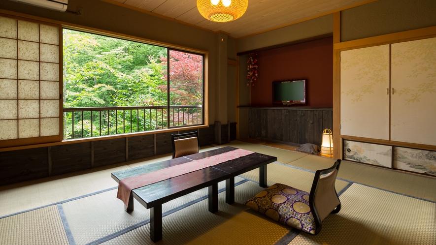 昔懐かしい・・・土壁造りの客室。。。夕暮からライトアップされる幻想的な世界を。。。【東館客室一例】