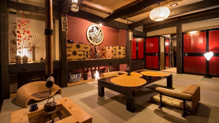 古き良き日本の社寺・伝統建築を大切にしつつ、快適な空間を追求致しました。(特別室)極~Kiwami~