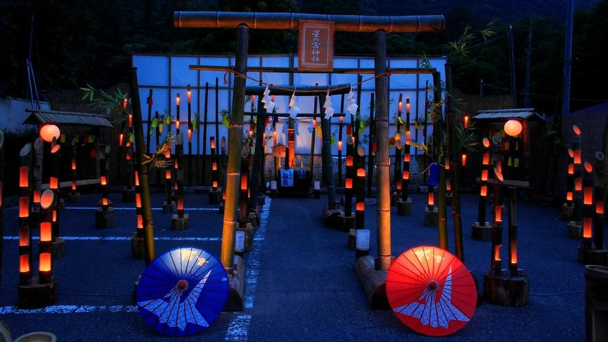 【竹の宵祭り】竹灯篭のロウソクのあかりは、その日限りの二度とは見られない光景♪夏の夜の思い出に^^♪