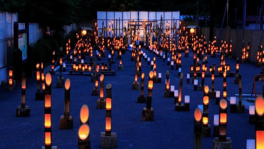 湯西川温泉 夏の3大イベントの1つ【竹の宵まつり】湯西川の夏は、このイベントからはじまります。。。