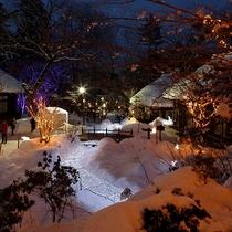 感動の冬の夜をお過ごしいただけるでしょう・・・里山の情緒たっぷり雪の世界をお楽しみください。。。