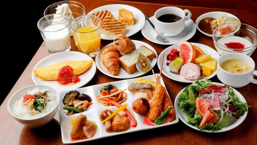 約30種類以上から選べる朝食ブッフェ(2021年4月1日より)