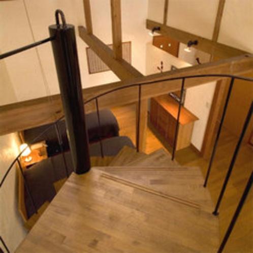 *「Mroom」の螺旋階段