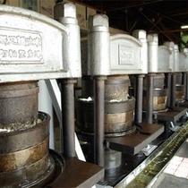 *椿油の工場。