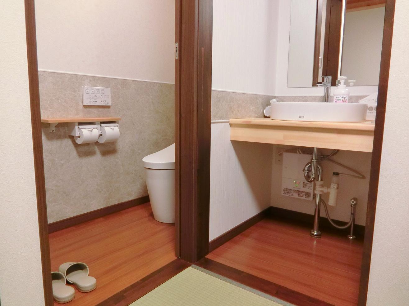 洗面台、トイレ(TOTOネオレスト)ウォッシュレット