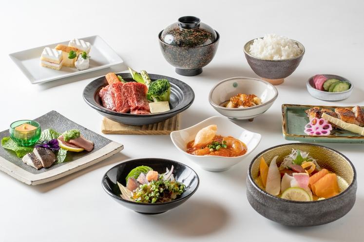 季節毎に変わる和食会席膳の一例(春)