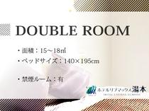 ◇ダブルルームのご紹介◇