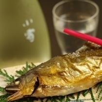 夕食_鮎の塩焼き【A】
