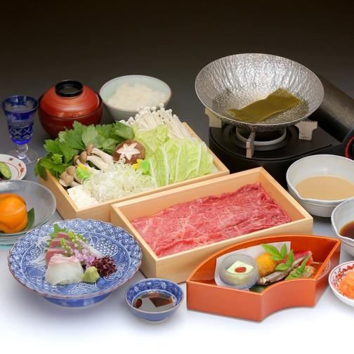 【国産牛すき焼き会席付プラン】ご夕食はお部屋で♪(夕朝食付)