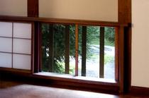 中庭の石畳