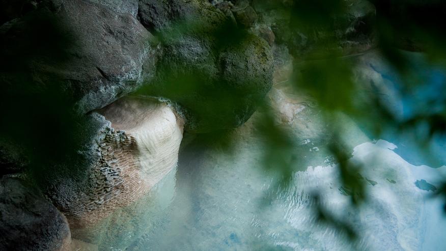 【泰葉自慢の青湯】露天風呂
