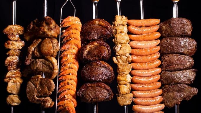 <土日祝限定>【いろいろなお肉が食べ放題!】ルオーレ シュラスコディナー付き