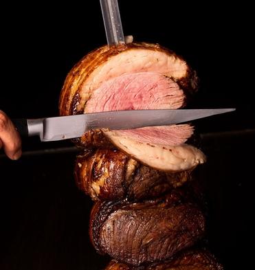 【いろいろなお肉が食べ放題!】ルオーレ シュラスコディナー付き<土日祝限定>