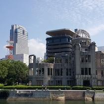 ホテル&原爆ドーム&おりづるタワー