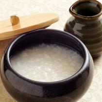 和朝食(お粥)